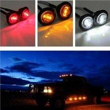 12 в трейлер светодиодные боковые габаритные огни для грузовиков габаритные огни Янтарный боковой маркер круглый грузовик Поворотная сигнальная лампа 1 шт