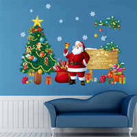 % Weihnachtsdekoration Weihnachtsmann weihnachtsbaum geschenk wandaufkleber für kinderzimmer adesivos de paredes wandtattoos kunst poster