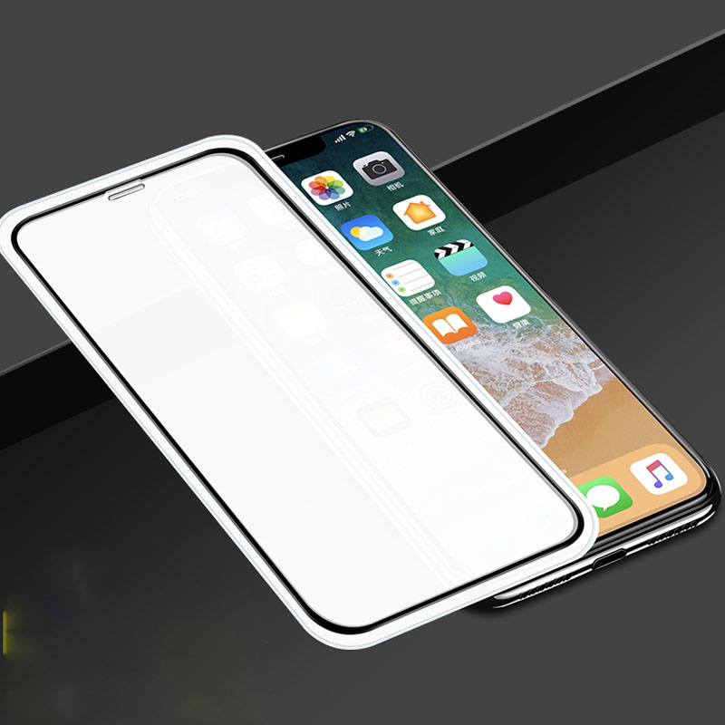 d2b1c67c450 3PCS Full Curved Edge Tempered Glass Screen Protector For iPhone XS XR XS  Max NO Gap Protection Film Guard Cover For iPhoneX