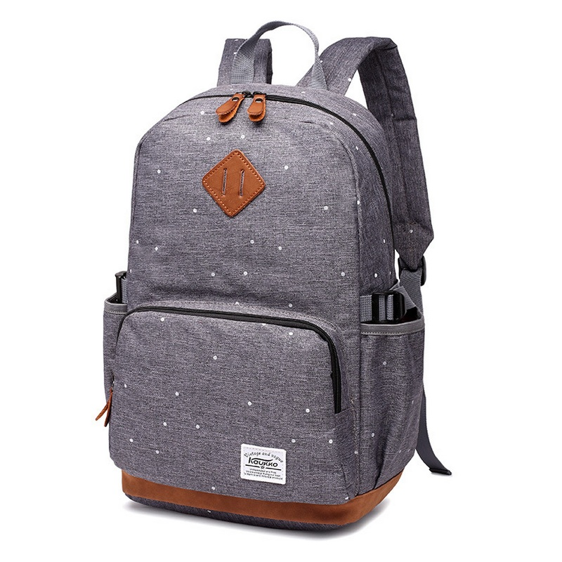 b01354249f Korean Oxford Polka Dot Printing Student School Bags Teenage Girls Casual  Satchel Campus Backpack Rucksack Laptop Bag Back Pack-in School Bags from  Luggage ...