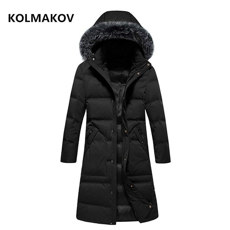 2018 hiver hommes style Long de haute qualité 90% duvet de canard blanc vestes hommes, hommes de manteau chaud, classique affaires épaississent doudoune