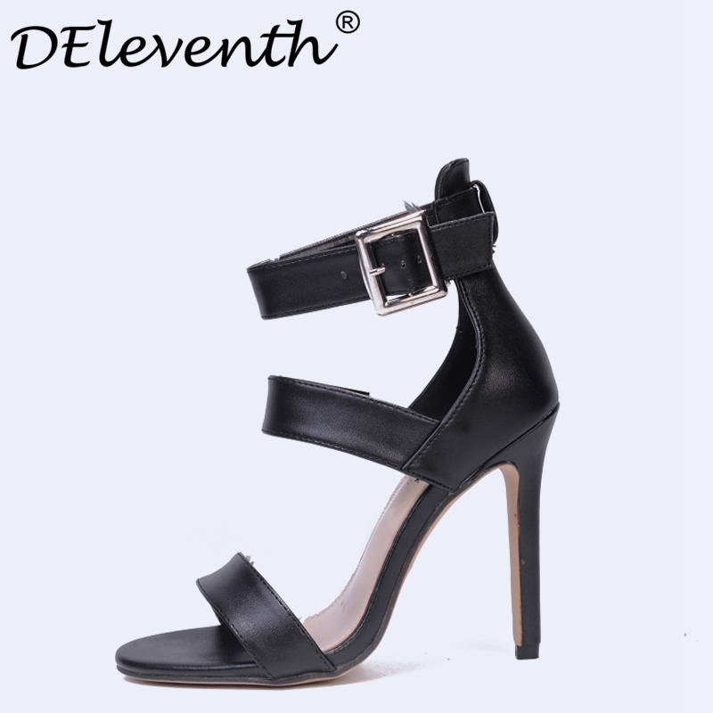 2018 Sexy Women Shoes Open Toe Buckle Strap Heels Sandals Woman Sandals Stiletto With Ladies Party Wedding Shoes Women High Heel цены онлайн