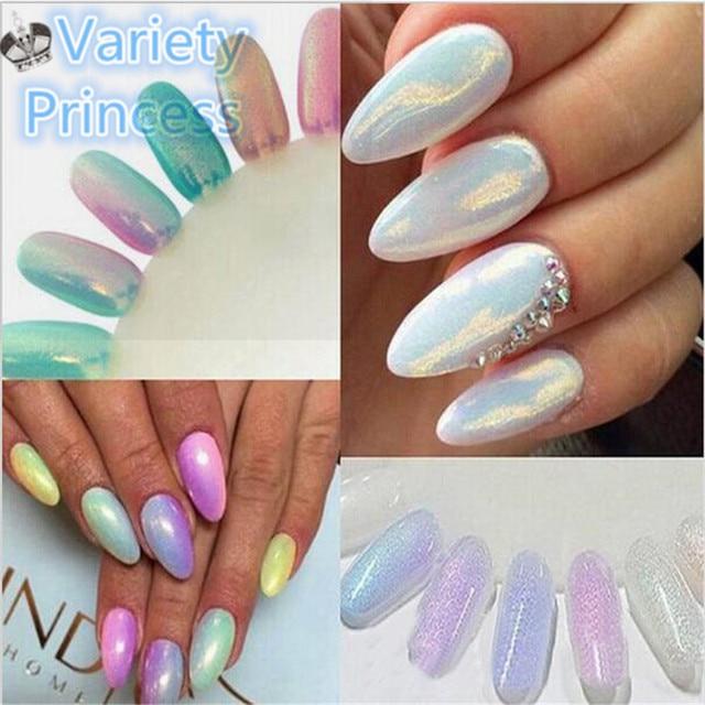10g Box 5 Colors Mirror Mermaid Glitter Powder For Nails Shinning Dust Nail Art Diy