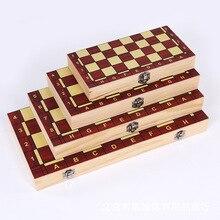 4 Размеры международных шахматы деревянные складные деревянные коробки шахматы цветная упаковочная коробка набор настольная игра складной портативный