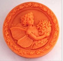9,5 CM Blume Fee Kuchen Dekoration Formwerkzeuge Praline 3D Slicone Sugarcraft Scherblock DIY Küche Liefert