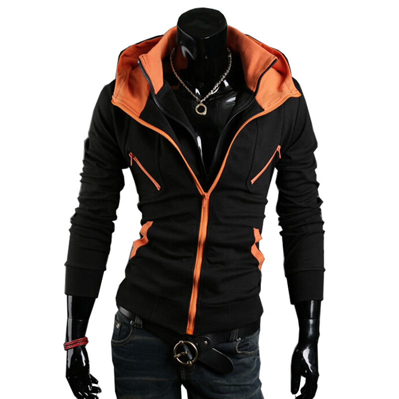 72863cf53bd6 New Hot Sale Hoodies Men Men Double zipper Men Hoodies Black   Navy blue  Color Size