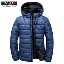 VSD 2019 di Marca Bianco Anatra Imbottiture Uomini Giacca Autunno Inverno  degli uomini Cappotto Caldo Ultralight 5815d29668b