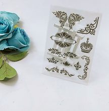 Flower frame Clear Stamp for Scrapbooking Transparent Silicone Rubber DIY Photo Album Decor(China)