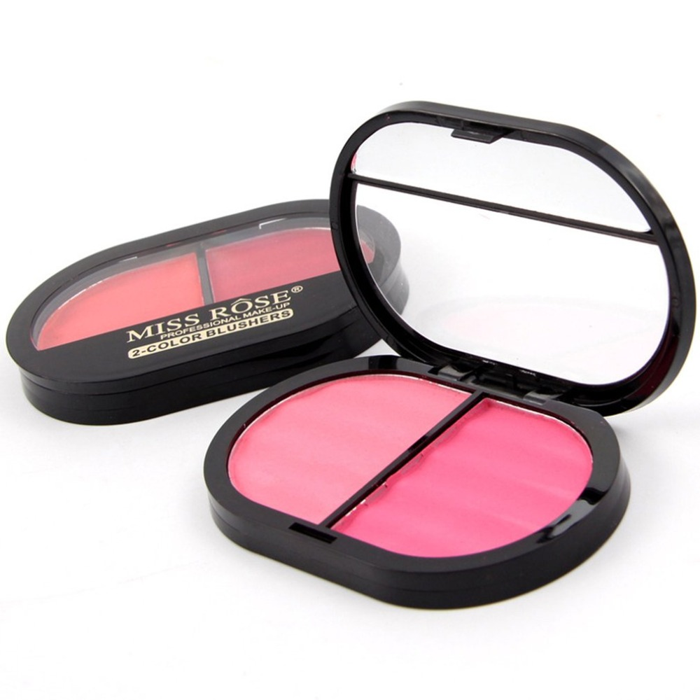MISS ROSE Light and skin-friendly blush 4 color window makeup box blush powder