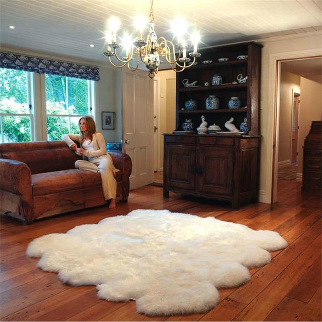 US $39.87 15% OFF|100% wolle Pelz Teppiche Für Wohnzimmer Hause Warme  Teppich Schlafzimmer Sofa Kaffee Tisch Shaggy Teppich Kinder Tatami Boden  Matte ...