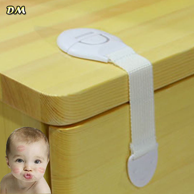 Via Fedex, Self-Adhesive Baby Safety Lock Protection Multipurpose Cabinet Lock Plastic Children Kids Drawer Lock 1200pcs