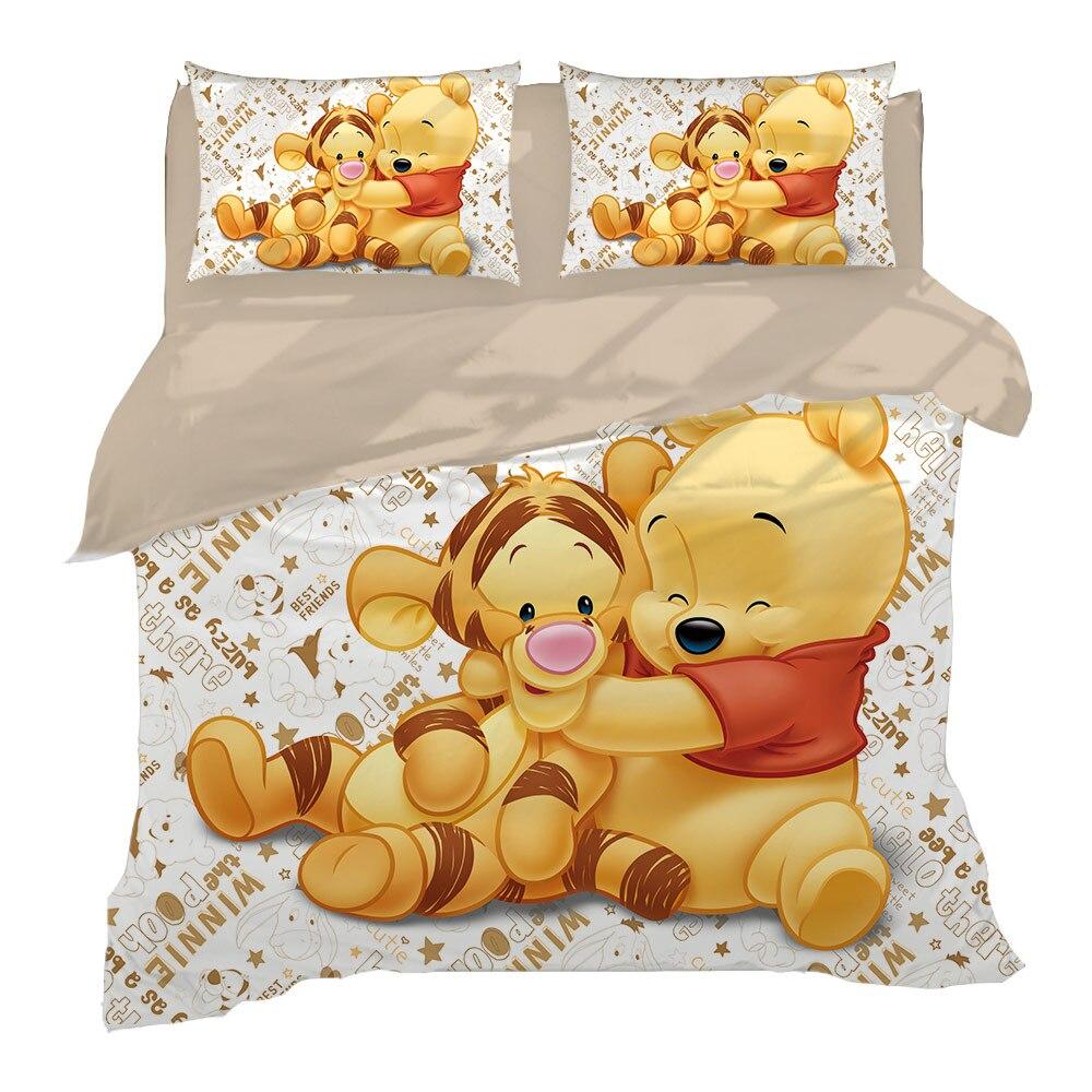 Tigger Winnie l'ourson ensemble de literie double taille housse de couette pour enfants chambre decora garçons ensemble de lit double simple reine roi couvre-lit