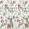 100X145cm Fashion Week Vegetables Green Pea Pods Stretch Soft Jacquard Fabric For Woman Summer Dresses Fishtail