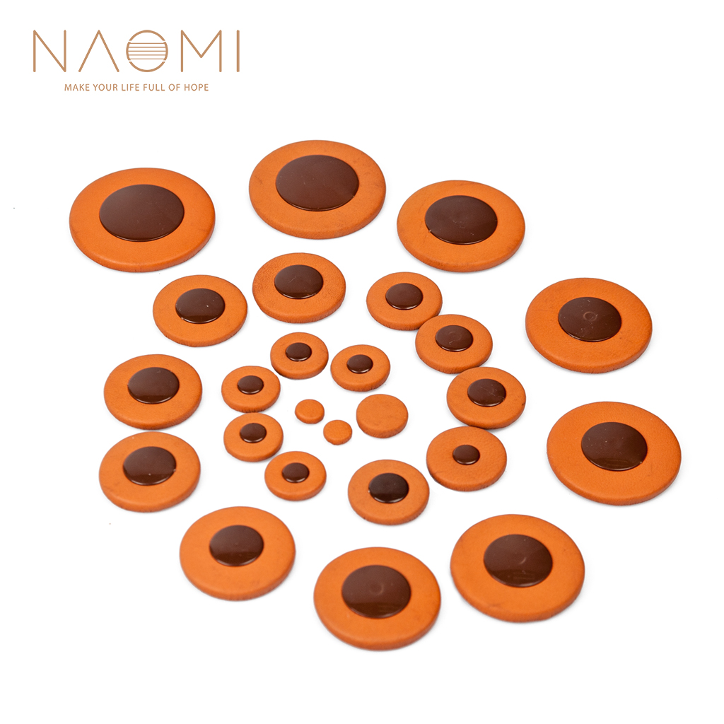 NAOMI 25pcs Alto Saxophone Pads Sax Leather Pads Replacement For Alto Saxophone Yamaha Sax Saxophone Accessories