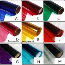 60cm wide Multicolour foil window glass stickers sun shade paper translucidus transparent two-way decoration membrane