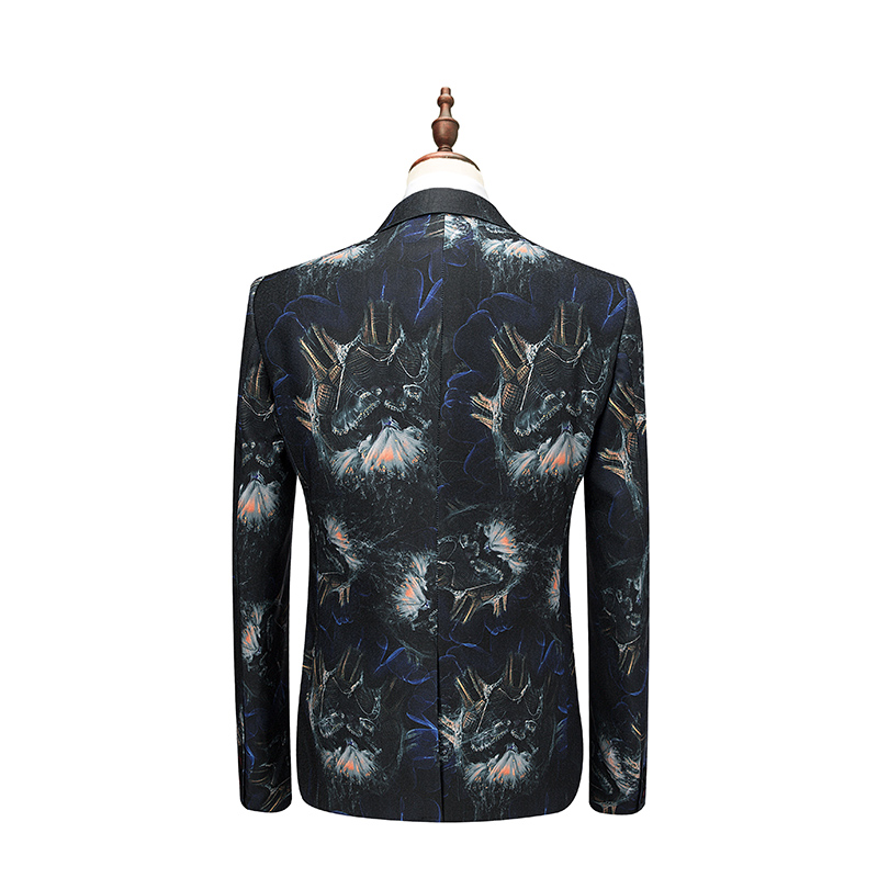 (Jacket+Vest+Pants) 2018 Flower color Men Suits Fashion Party dresses Mens Slim Fit business men Wedding suit full size M-6XL