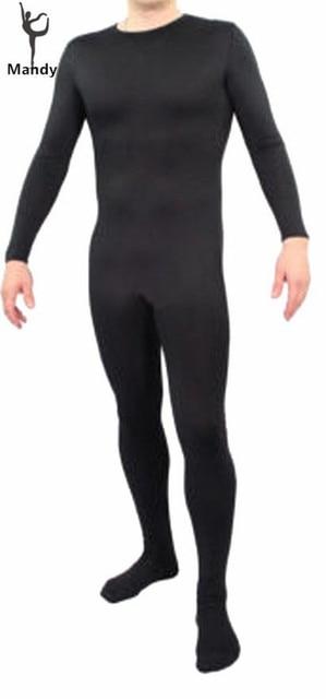 Plus Size Adult Lycra Long Sleeve Black Spandex Unitard Men Body Suit  Hoodless Catsuit Women Bodysuit 98fb8d41e8
