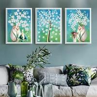 New Style Simple Modern Fresh Vase Flowers Triple Diamond Painting DIY Diamond Embroidery Restaurant Living Room