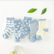3 pairs / a lot  0-3 years old baby socks Spring childrens cotton comfortable soft tube wholesale