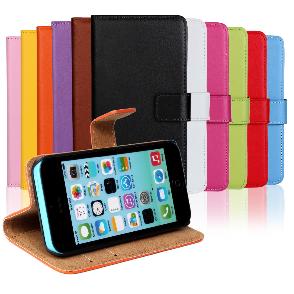 Se 5g Responsible Rich Leather Wallet Magnetic Flip Phone Case Cover For Apple Iphone 5s
