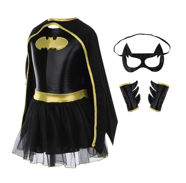 Children Girls Kid Superhero Batman Batgirl Fancy Dress Costume Outfits Comic Cosplay