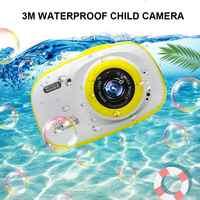 Kids Camera 1080P HD Mini Rechargeable Children Shockproof Digital Front Rear Selfie Camera Child Camcorder Waterproof LCD Scree