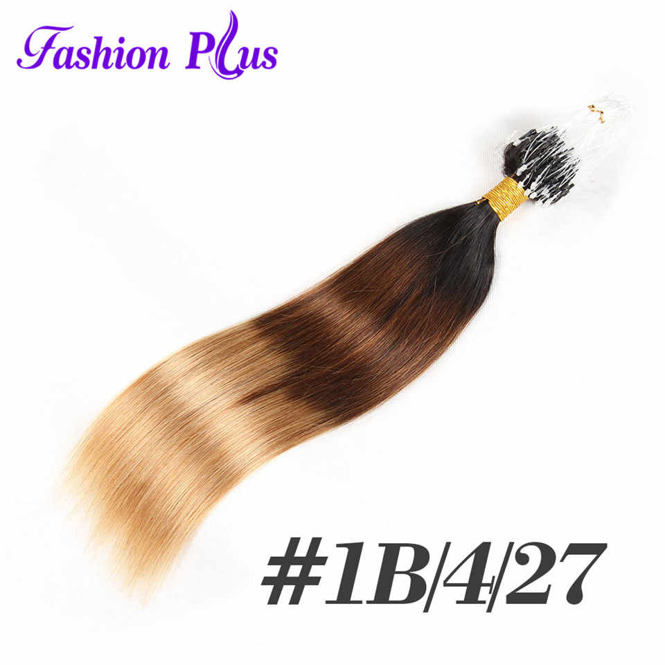 FashionPlus Micro Loop Human Hair Extension Blonde Remy Hair Colored Hair Locks 18-24''Micro Bead Hair Extensions 1g/strand 100g