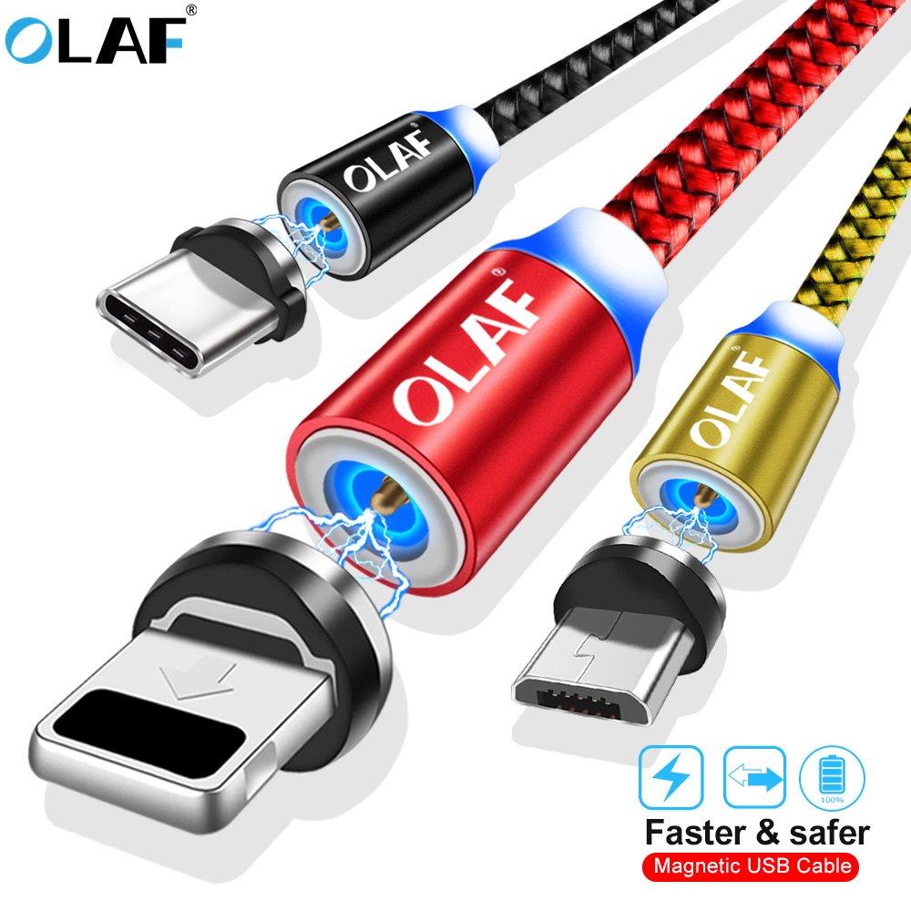 Mobile Phone Accessories Mobile Phone Cables Olaf 1m 2m Led Fast Charging Micro Usb Type C Cable For Xiaomi Redmi Note 7 Mi9 Magnet Charger Cable Cord For Iphone X Xr Xs Max