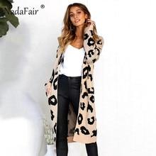 leopard print long cardigans