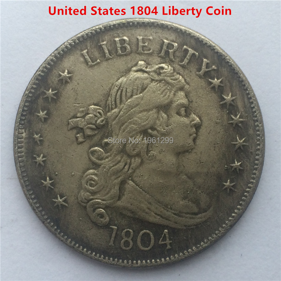 Free Shipping 5pcs Lot Usa 1804 Key Date Liberty Dollar