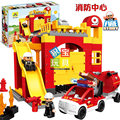 Building Blocks Fire Story Compatible with  diy toys Creative Educational Xmas duplo 65pcs Classic Toys Educational Baby Toy