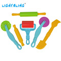 Herramientas de plastilina de colores soft polymer modela la arcilla fimo stylingtool play doh juguetes especiales para niños juguetes regalos lightaling