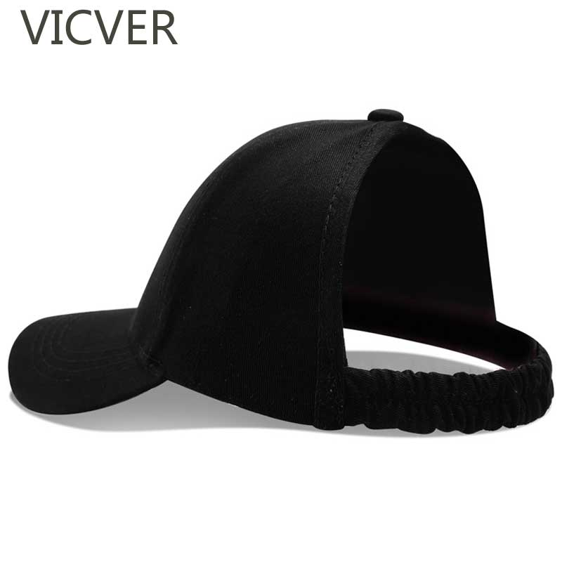 2019 Half Ponytail   Baseball     Cap   Women Empty Top Dad Hat New Fashion Female Summer Beach Sun Hats Sports   Caps   Explosion Head Hat