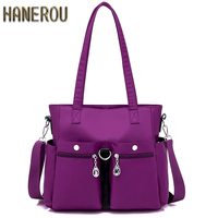 Famous Brand Ladies Hand Bags Nylon Women Bag Casual Tote Shoulder Bags 2019 Sac New Fashion Luxury Handbags Large Tote Bag