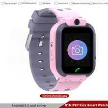 New Q16 IP67 Waterproof Smart Watch Kids Anti-Lost Positioning Alarm Clock Phone Two-way Call Camera Childrens Smartwatch