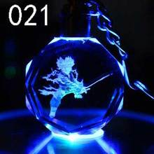 Dragon Ball Z Crystal Keychain Led Keyrings (16 colors)