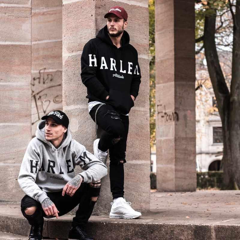 Sudaderas con capucha para hombres de Harleys con vestido negro Hip Hop Mantle Hoodies moda chaqueta manto de mangas largas abrigos para hombre prendas de vestir