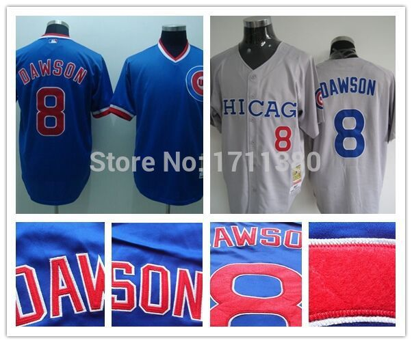 2984bbbf Chicago Cubs throwback jersey mens 8 Andre Dawson jersey Retro Stitched  cheap authentic sport baseball jerseys custom M-3XL