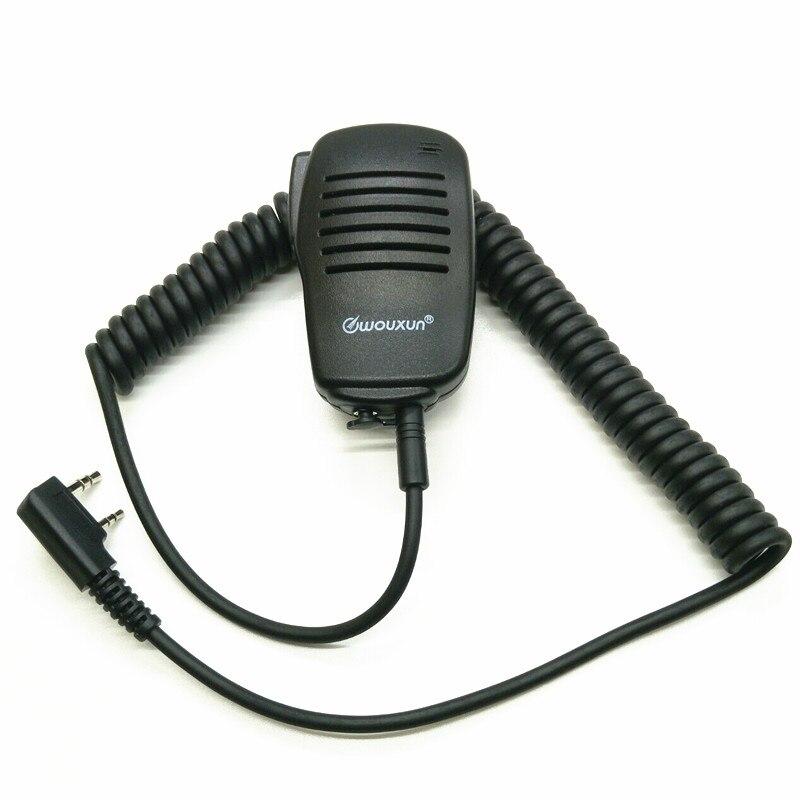 OPPXUN Walkie Talkie PTT Speaker Mic Microfono Per TK2107 TK3107 TK278 BAOFENG UV-5R UV-Puxing PX-Wouxun KG-UVD1P TYT
