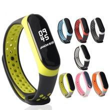 Mi Band 3 4 strap Bracelet sport Silicone watch wrist miband 3 strap accessories Miband3 4 bracelet smart for Xiaomi mi band 3 4