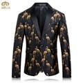 MIUK Большой Размер 3D Печати Костюм Блейзер Мужчины Бренд-одежда 4XL 3XL партия Высокое Качество Мужчины Blazer Slim Fit Блейзер Masculino 2017 Новый