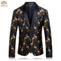 MIUK Large Size 3D Print Suit Blazer Men Brand-clothing 4XL 3XL Party High Quality Men Blazer Slim Fit Blazer Masculino 2017 New