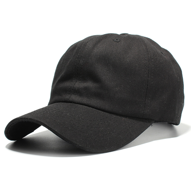 5e2a739d5be 100% Cotton Baseball Caps For Men Black White Casual Dad Hat Women Solid  Color Blank