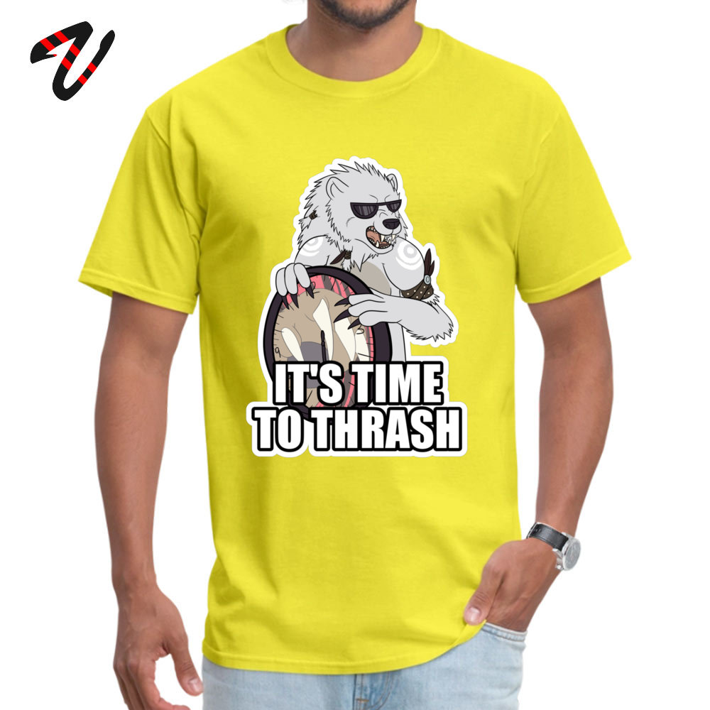 Gift Casual Printing Short Sleeve Summer T Shirt Hip Hop O Neck Cotton Tee Shirt Young T Shirt Drop Shipping ITS TIME TO THRASH White [Redbubble exclusi yellow