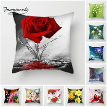 Fuwatacchi Rose planting Cushion Cover Colorful Flower Pattern Decorative Pillow Case For Sofa Seat Car New 2019 Pillowcase