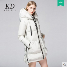 2015 new Hot winter Thicken Warm Woman Down jacket Coat Parkas Outerwear Hooded Luxury Brand Slim Cold Mid long plus size XL