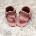 Genuine Leather Pink Girl shoe Handmade Baby Flip Flop