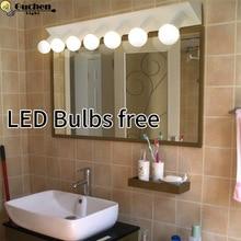 Moderno minimalista apliques luz espejo Baño LED lámpara de pared baño  armario vestidor espejo de pared iluminación E27 360f762c4a8e