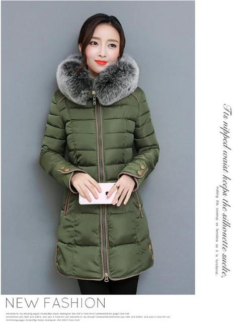 2018 The new Korean version of the long version of the thickening body, large wool collar cotton clothes NN1709. 2
