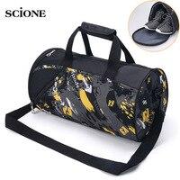2017 New Large Cylinder Gym Bag Women Men Portable Fitness Bag Waterproof Nylon Sport Bag Travel